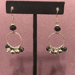 Black, silver and clear crystal earrings 2/$10 Sal